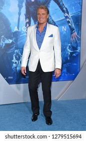LOS ANGELES - DEC 12:  Dolph Lundgren arrives to 'Aquaman' Hollywood Premiere  on December 12, 2018 in Hollywood, CA