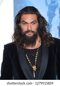 LOS ANGELES - DEC 12:  Jason Momoa arrives to 'Aquaman' Hollywood Premiere  on December 12, 2018 in Hollywood, CA