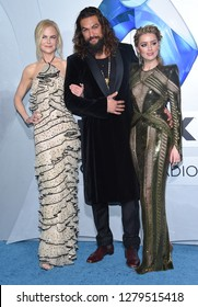 LOS ANGELES - DEC 12:  Nicole Kidman, Jason Momoa and Amber Heard arrives to 'Aquaman' Hollywood Premiere  on December 12, 2018 in Hollywood, CA