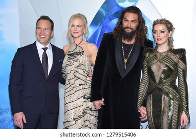 LOS ANGELES - DEC 12:  Patrick Wilson, Nicole Kidman, Jason Momoa and Amber Heard arrives to 'Aquaman' Hollywood Premiere  on December 12, 2018 in Hollywood, CA