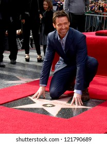 LOS ANGELES - DEC 13:  Hugh Jackman at the Hollywood Walk of Fame ceremony for Hugh Jackman at Hollywood Boulevard on December 13, 2012 in Los Angeles, CA