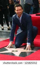 LOS ANGELES - DEC 13:  Hugh Jackman at the Hollywood Walk of Fame ceremony for Hugh Jackman on December 13, 2012 in Los Angeles, CA