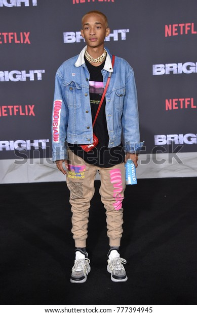 """LOS ANGELES - DEC 13:  Jaden Smith arrives for the """"Bright"""" Los Angeles Premiere on December 13, 2017 in Westwood, CA"""