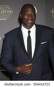 """LOS ANGELES - DEC 14:  Adewale Akinnuoye-Agbaje at the """"Star Wars: The Force Awakens"""" World Premiere at the Hollywood & Highland on December 14, 2015 in Los Angeles, CA"""