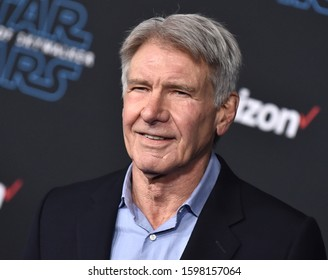 LOS ANGELES - DEC 16:  Harrison Ford arrives for the ÔStar Wars: The Rise of SkywalkerÕ Premiere on December 16, 2019 in Hollywood, CA