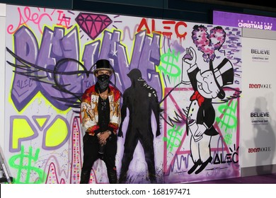 """LOS ANGELES - DEC 18:  Alec Monopoly at the """"Believe"""" World Premiere at Regal 14 Theaters on Dec 18, 2013 in Los Angeles, CA"""