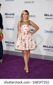 "LOS ANGELES - DEC 18:  Kiernan Shipka at the ""Believe"" World Premiere at Regal 14 Theaters on Dec 18, 2013 in Los Angeles, CA"