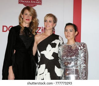 "LOS ANGELES - DEC 18:  Laura Dern, Kristen Wiig, Hong Chau at the ""Downsizing"" Special Screening at Village Theater on December 18, 2017 in Westwood, CA"