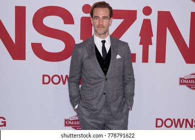 LOS ANGELES, DEC 18TH, 2017: Actor James Van Der Beek attends the Los Angeles Premiere of Downsizing on December 18th, 2017.