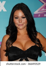 LOS ANGELES - DEC 19 - Jenni Farley, aka JWoww arrives at the X Factor 2012 Season Finale Day 1  on December 19, 2012 in Los Angeles, CA