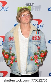 LOS ANGELES - DEC 2:  Logan Paul at the Jingle Ball 2017 at the Forum on December 2, 2017 in Inglewood, CA
