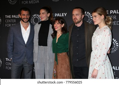 """LOS ANGELES - DEC 21:  Hugh Dancy, Michelle Monaghan, Jessica Goldberg, Aaron Paul, Emma Greenwell at the """"The Path"""" Season 3 Premiere at Paley Center for Media on December 21, 2017 in Beverly Hills"""