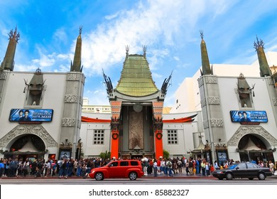 LOS ANGELES - DEC 29: Grauman's Chinese Theater on December 29, 2009 located on Hollywood Boulevard in Hollywood, California. Hand prints of celebrities are ensconced in front of the building.