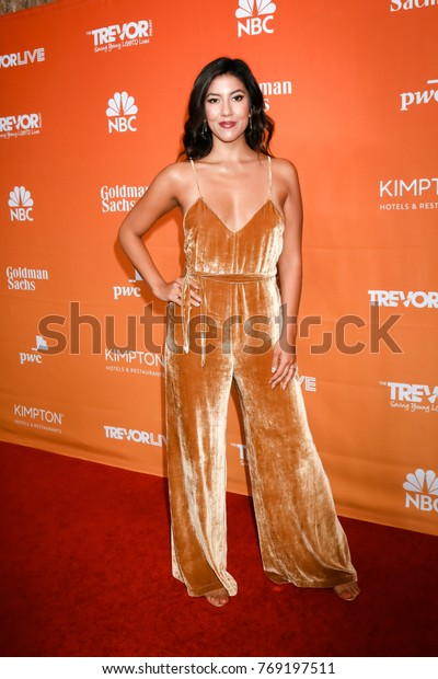 LOS ANGELES - DEC 3:  Stephanie Beatriz at the 2017 TrevorLIVE Los Angeles at Beverly Hilton Hotel on December 3, 2017 in Beverly Hills, CA