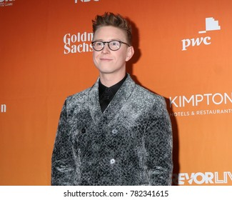 LOS ANGELES - DEC 3:  Tyler Oakley at the 2017 TrevorLIVE Los Angeles at Beverly Hilton Hotel on December 3, 2017 in Beverly Hills, CA