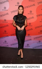 """LOS ANGELES - DEC 4:  Adria Arjona at the Refinery29's """"29ROOMS"""" Opening Night at the Reef on December 4, 2018 in Los Angeles, CA"""