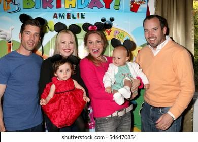 LOS ANGELES - DEC 4:  Scott Bailey, Amelie Bailey, Adrienne Frantz, Virginia Williams, Ford Bricken, Bradford Bricken at the Amelie Bailey's 1st Birthday Party on December 4, 2016 in Studio CIty, CA