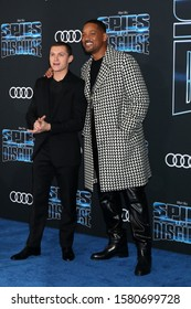 """LOS ANGELES - DEC 4:  Tom Holland, Will Smith at the """"Spies in Disguise"""" Premiere at El Capitan Theater on December 4, 2019 in Los Angeles, CA"""