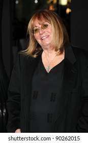 """LOS ANGELES - DEC 5:  Penny Marshall arrives at the """"New Year's Eve"""" World Premiere at Graumans Chinese Theater on December 5, 2011 in Los Angeles, CA"""