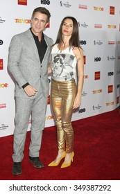 LOS ANGELES - DEC 6:  Dermot Mulroney, Tharita Cesaroni at the TrevorLIVE Gala at the Hollywood Palladium on December 6, 2015 in Los Angeles, CA