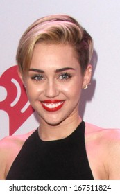 LOS ANGELES - DEC 6:  Miley Cyrus at the KIIS FM Jingle Ball 2013 at Staples Center on December 6, 2013 in Los Angeles, CA