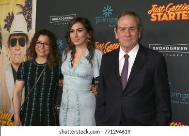"LOS ANGELES - DEC 7:  Dawn Laurel-Jones, Victoria Jones, Tommy Lee Jones at the ""Just Getting Started"" Premiere at ArcLight Hollywood on December 7, 2017 in Los Angeles, CA"