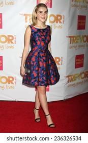 "LOS ANGELES - DEC 7:  Kiernan Shipka at the ""TrevorLIVE LA"" at the Hollywood Palladium on December 7, 2014 in Los Angeles, CA"