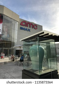 LOS ANGELES, DEC 9, 2017: Exterior of the AMC Century City theaters at the Westfield shopping mall in Century City.