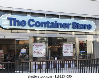 LOS ANGELES, Dec 9, 2017: Exterior of The Container Store at the Westfield Century City shopping mall in Century City.