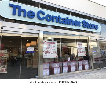 LOS ANGELES, Dec 9, 2017: Exterior of The Container Store store at the Westfield Century City shopping mall in Century City.