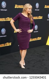 LOS ANGELES, DEC 9, 2018: Actress Megyn Price on the red carpet at the global premiere of Paramount Pictures' new movie Bumblebee, at the Chinese Theatre in Hollywood, California.