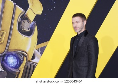 LOS ANGELES, DEC 9, 2018: Director Travis Knight on the red carpet at the global premiere of Paramount Pictures' new movie Bumblebee, at the Chinese Theatre in Hollywood.