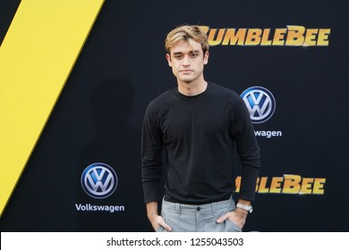 LOS ANGELES, DEC 9, 2018: Actor Sebastian Genta on the red carpet at the global premiere of Paramount Pictures' new movie Bumblebee, at the Chinese Theatre in Hollywood.