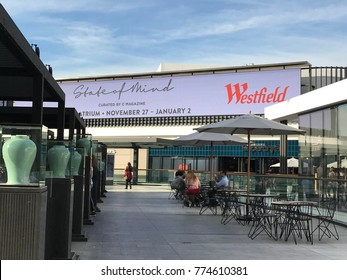 LOS ANGELES, DEC 9TH, 2017:  People walk through the newly opened Westfield Shopping Center Century City. Westfield Corporation has agreed to be sold to Unibail-Rodamco.