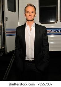 "LOS ANGELES - DECEMBER 11.  Neil Patrick Harris poses backstage after the Spike T.V. ""Video Game Awards"" presentation in Los Angeles on December 11, 2010."