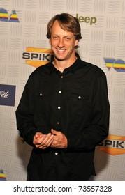 "LOS ANGELES - DECEMBER 11.  Tony Hawk arrives at the Spike T.V. ""Video Game Awards"" presentation in Los Angeles on December 11, 2010."