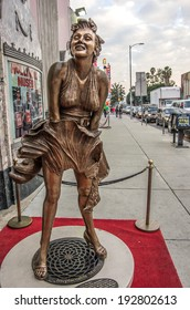 LOS ANGELES - DECEMBER 18, 2013: Hollywood Boulevard and Hollywood museum. In 1958, the Hollywood Walk of Fame was created on this street as a tribute to artists working in the entertainment industry