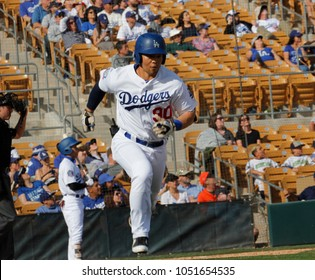 The Los Angeles Dodgers for the Los Angeles Dodgers at Camelback Ranch Glendale in Phoenix Arizona USA March 18,2018.