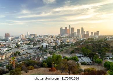 Los Angeles downton skyline