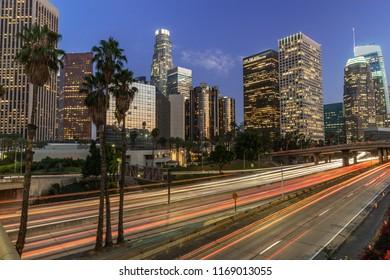 Los Angeles downtown buildings skyline