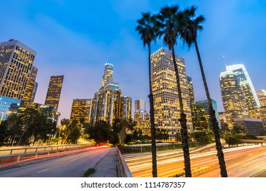 Los Angeles Downtown Sunset, LA California, USA
