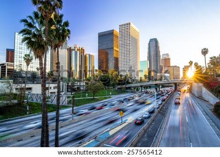 Los Angeles evening sunset
