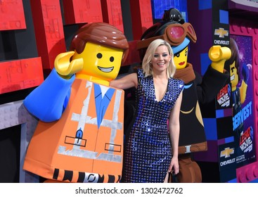 "LOS ANGELES - FEB 02:  Elizabeth Banks arrives to ""The LEGO Movie 2: The Second Part"" World Premiere on February 02, 2019 in Westwood, CA"