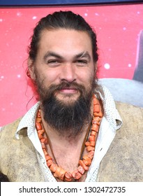 "LOS ANGELES - FEB 02:  Jason Momoa arrives to ""The LEGO Movie 2: The Second Part"" World Premiere on February 02, 2019 in Westwood, CA"