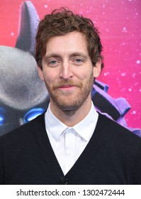 """LOS ANGELES - FEB 02:  Thomas Middleditch arrives to """"The LEGO Movie 2: The Second Part"""" World Premiere on February 02, 2019 in Westwood, CA"""