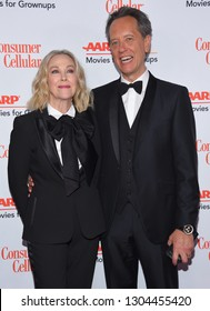 LOS ANGELES - FEB 04:  Catherine O'Hara and Richard E. Grant arrives for AARP's Movies For Grownups Awards 2019 on February 4, 2019 in Beverly Hills, CA