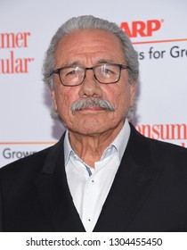 LOS ANGELES - FEB 04:  Edward James Olmos arrives for AARP's Movies For Grownups Awards 2019 on February 4, 2019 in Beverly Hills, CA