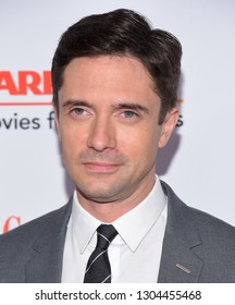 LOS ANGELES - FEB 04:  Topher Grace arrives for AARP's Movies For Grownups Awards 2019 on February 4, 2019 in Beverly Hills, CA