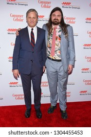 LOS ANGELES - FEB 04:  Viggo Mortensen and Henry Mortensen arrives for AARP's Movies For Grownups Awards 2019 on February 4, 2019 in Beverly Hills, CA