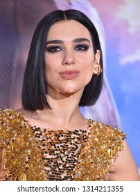 LOS ANGELES - FEB 05:  Dua Lipa arrives for the 'Alita: Battle Angel' Premiere on February 05, 2019 in Westwood, CA